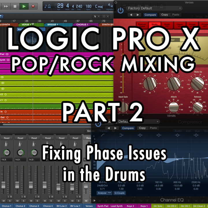 PART 2 - Fixing Phase Issues in the Drums