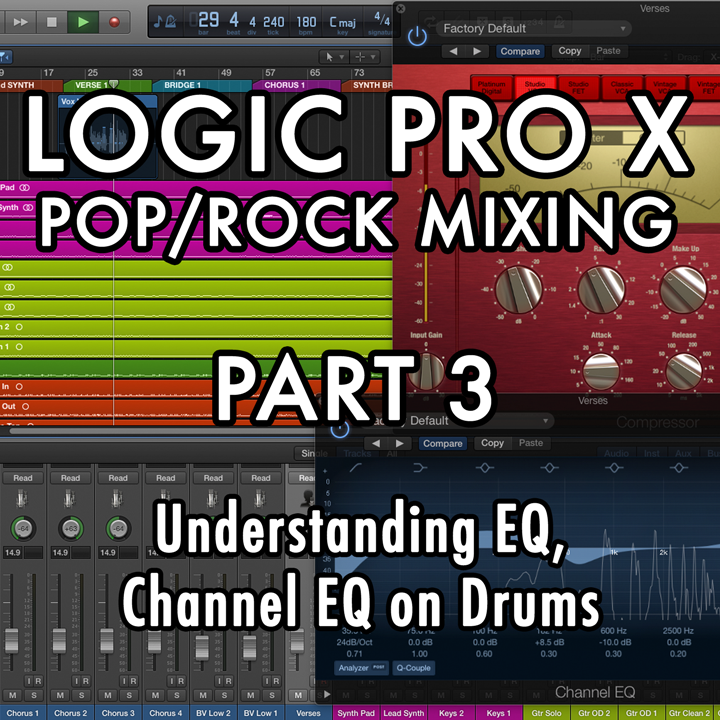 PART 3 - Understanding EQ, Channel EQ on Drums