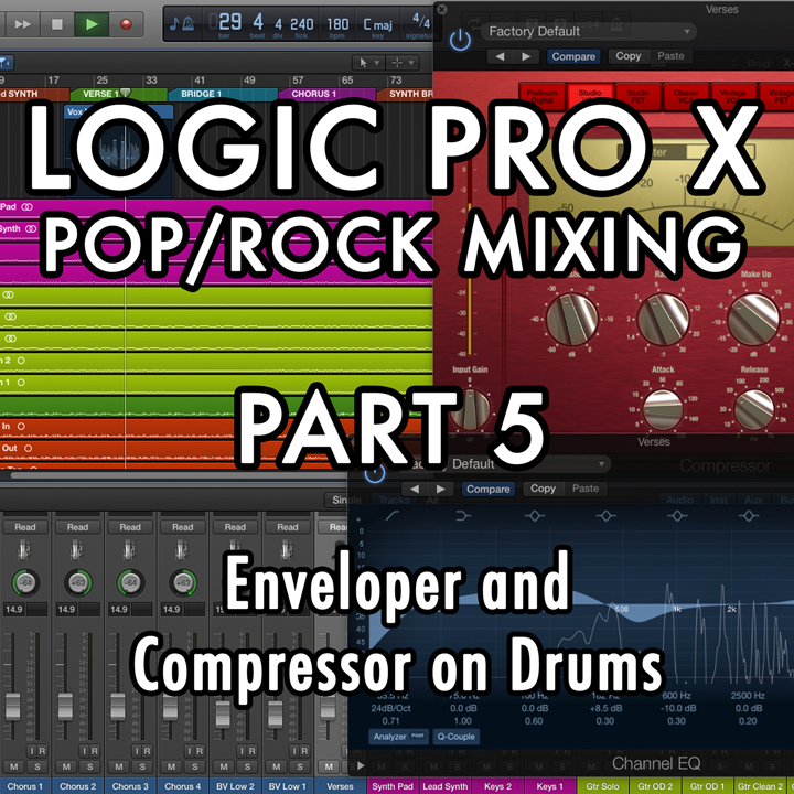 PART 5 - Enveloper and Compressor on Drums