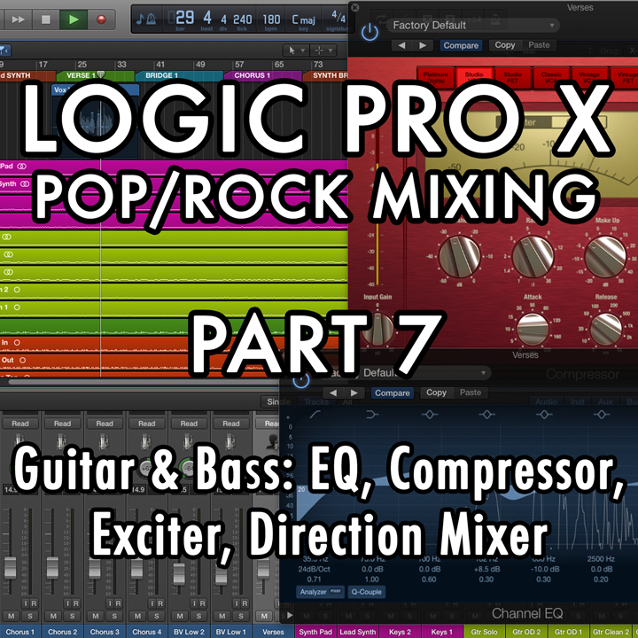 PART 7 - Guitar and Bass: EQ, Compressor, Exciter, Direction Mixer