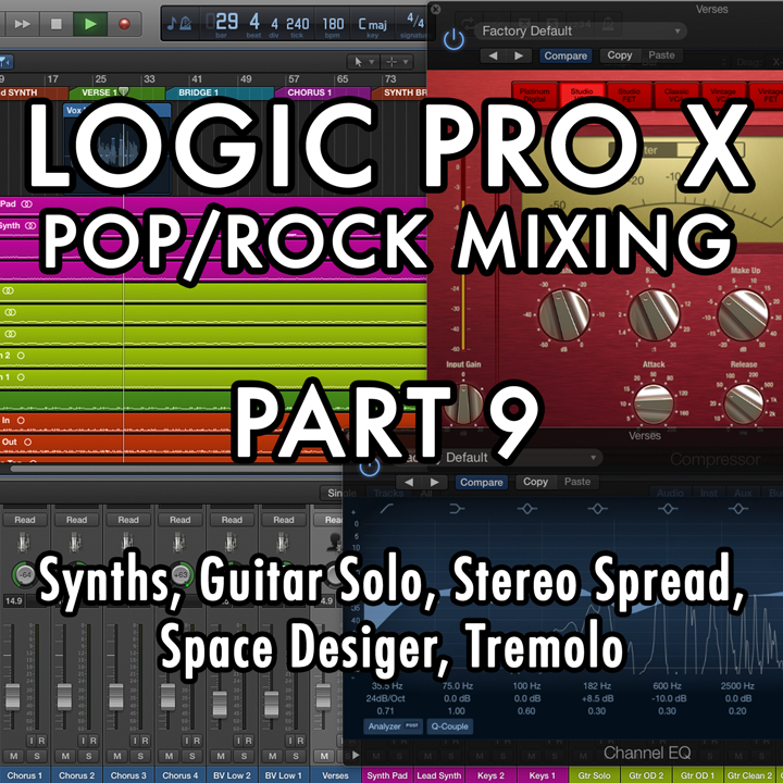 PART 9 - Synths, Guitar Solo, Stereo Spread, Space Designer, Tremolo