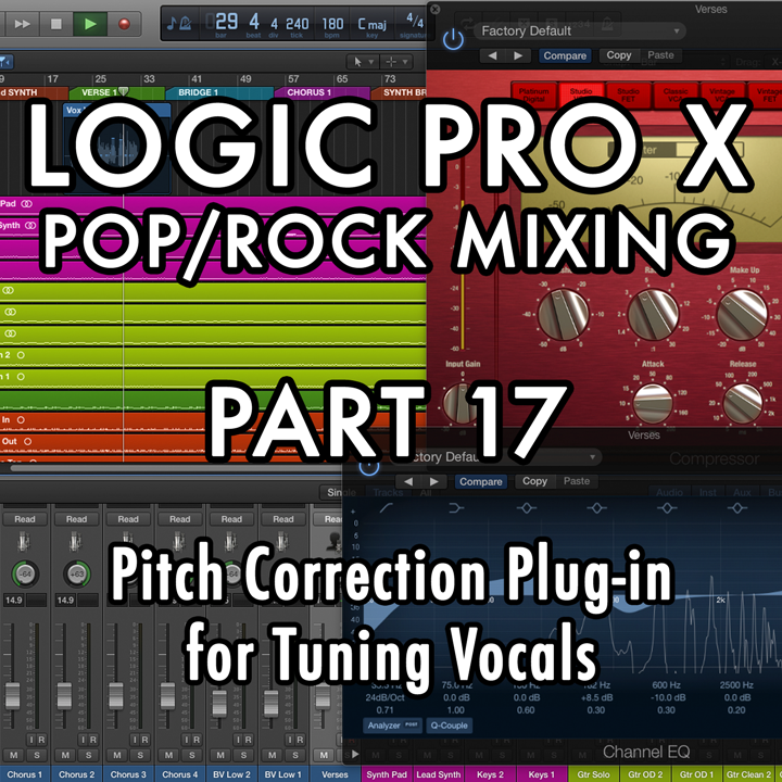 PART 17 - Pitch Correction Plug-in for Tuning Vocals