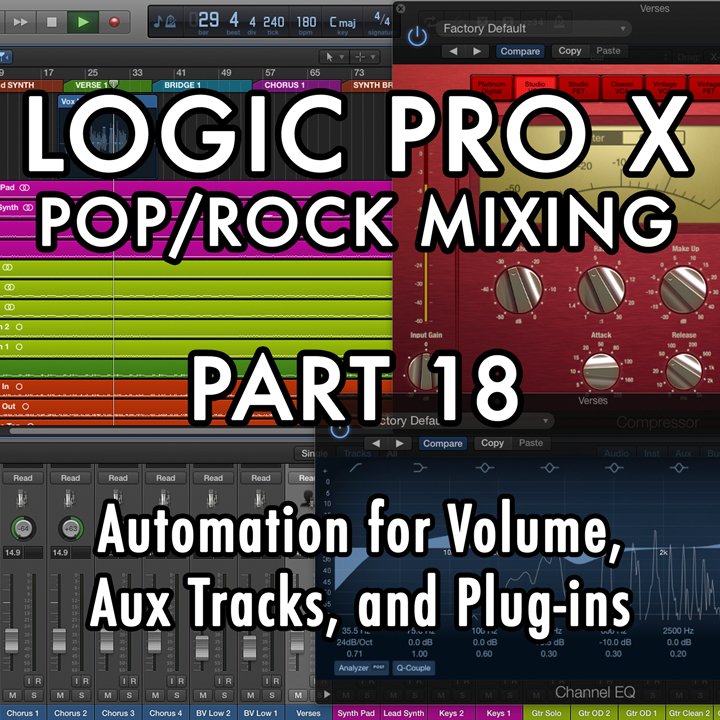 PART 18 - Automation for Volume, Aux Tracks, and Plug-ins