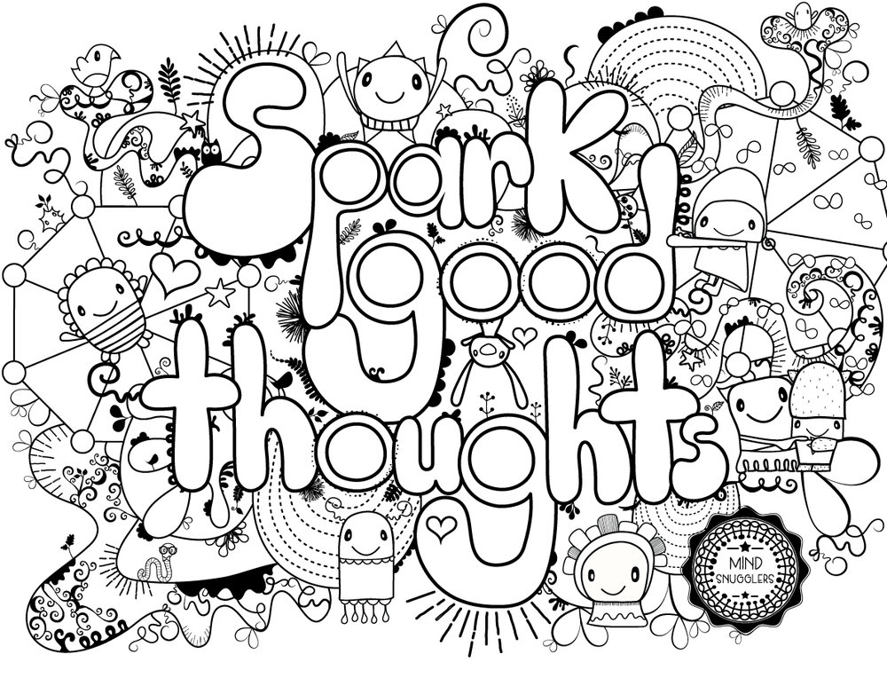 Spark good thoughts coloring page