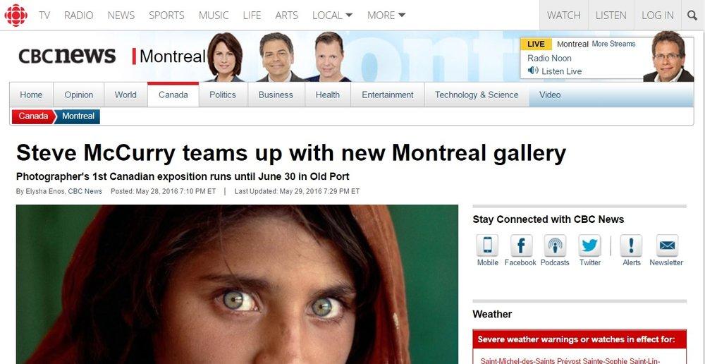 CBC, 28 mai 2016
