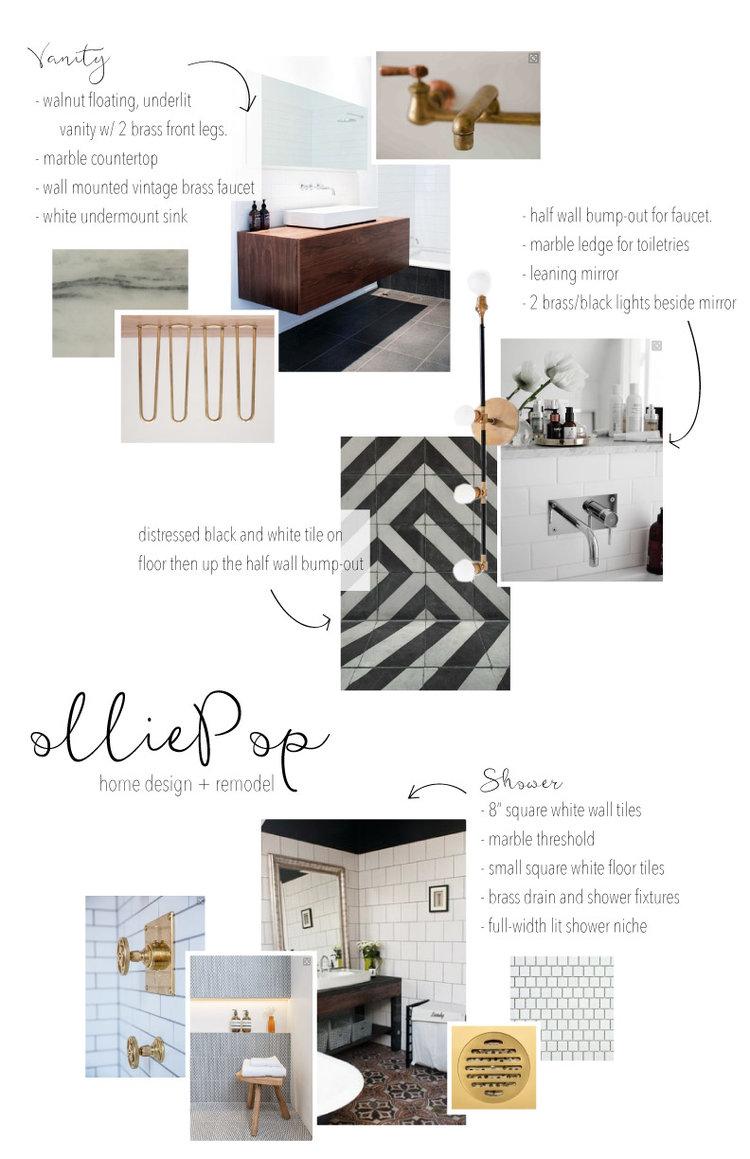 Our Work : modern industrial bathroom — olliePop : home design + remodel