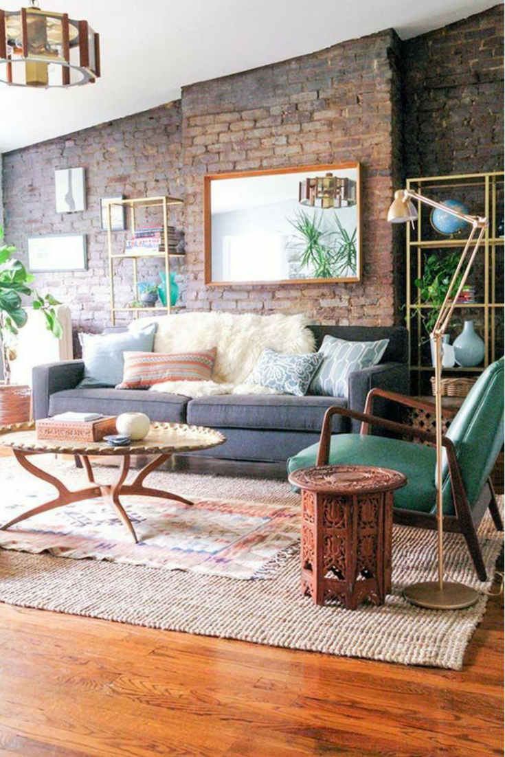 Adding bohemian vibe with layered rugs look – Layering rugs trend inspiration. Check our ideas at www.olliePopDesign.com and follow us on Pinterest @olliepop_design for more interior design and home decor ideas #homedecor #rugs #interiordesignideas