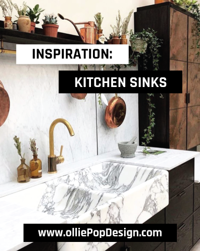 olliePop Design // Inspiration : Kitchen Sinks