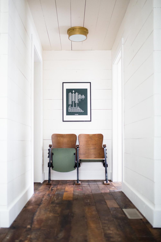 reclaimed wood floors white shiplap