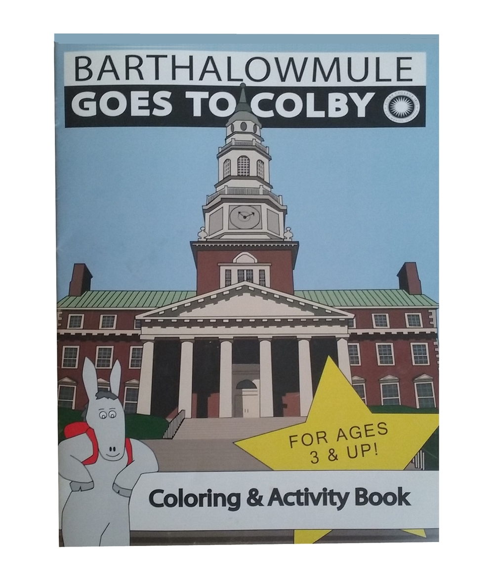 Designed and produced a 12 page coloring book for the Colby College bookstore.