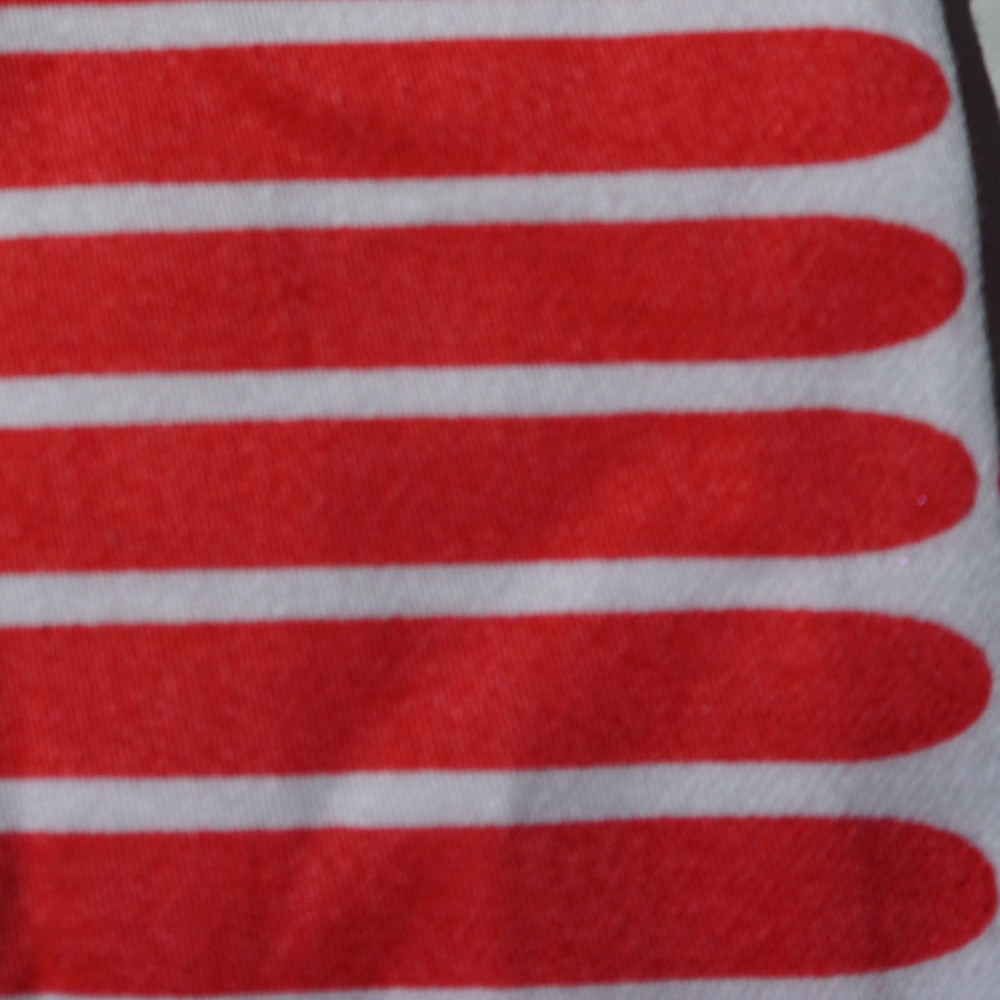 Act Abstract Red & White Stripe