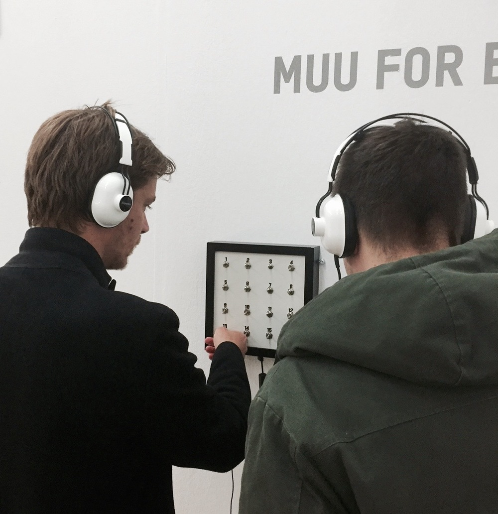 Listening to the sound art collection of MUU Gallery from Finland.