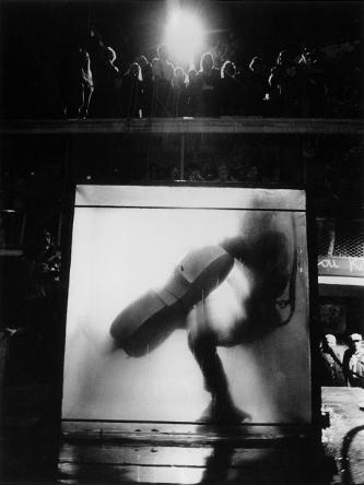 Charlotte Moorman performs Jim McWilliams's 'The Intravenous Feeding of Charlotte Moorman', New York, 1972
