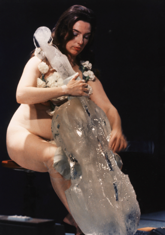 Charlotte Moorman performs Jim McWilliams's 'Ice Music for Sydney', New South Wales, 1976