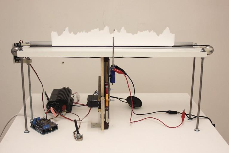 Reinhard Gupfinger,Audio Foam Cutter, Sound Shifting project, 2016