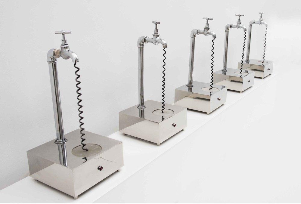 LUGAN (Luis García Nuñez). Grifos Sonoros [Sound faucets], 1972 Sound sculpture.