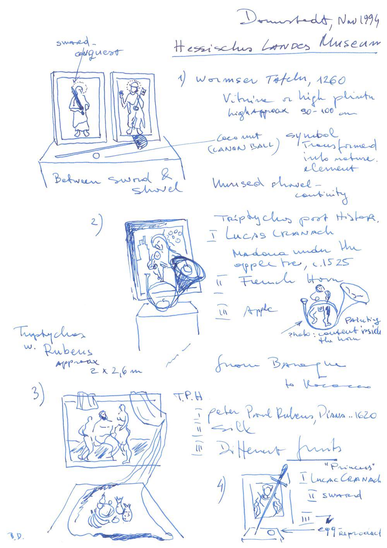 Braco Dimitrijević, Triptychos Post Historicus. Promenades in Museums, 1976-1994