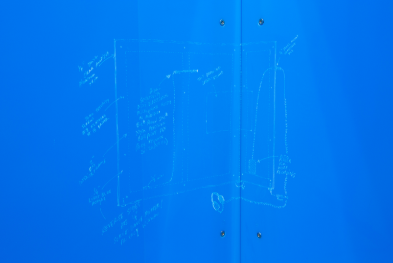 Detail of:Frank Heath, Privacy Window (Wearing a Wire), 2016