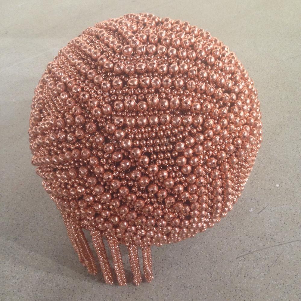 Haegue Yang,Sonic Sphere – Diagonally-ornamented Copper, 2015