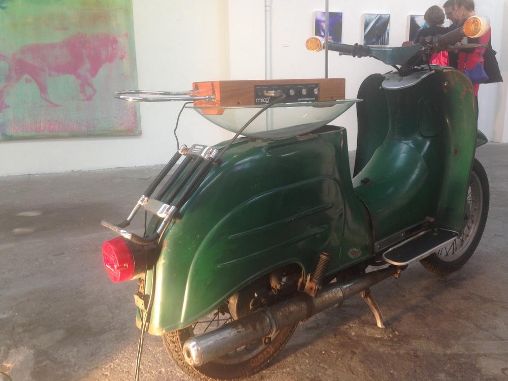 Robert Chambers,Motor Byte, 2016 Vespa scooter, theremin, amplifier