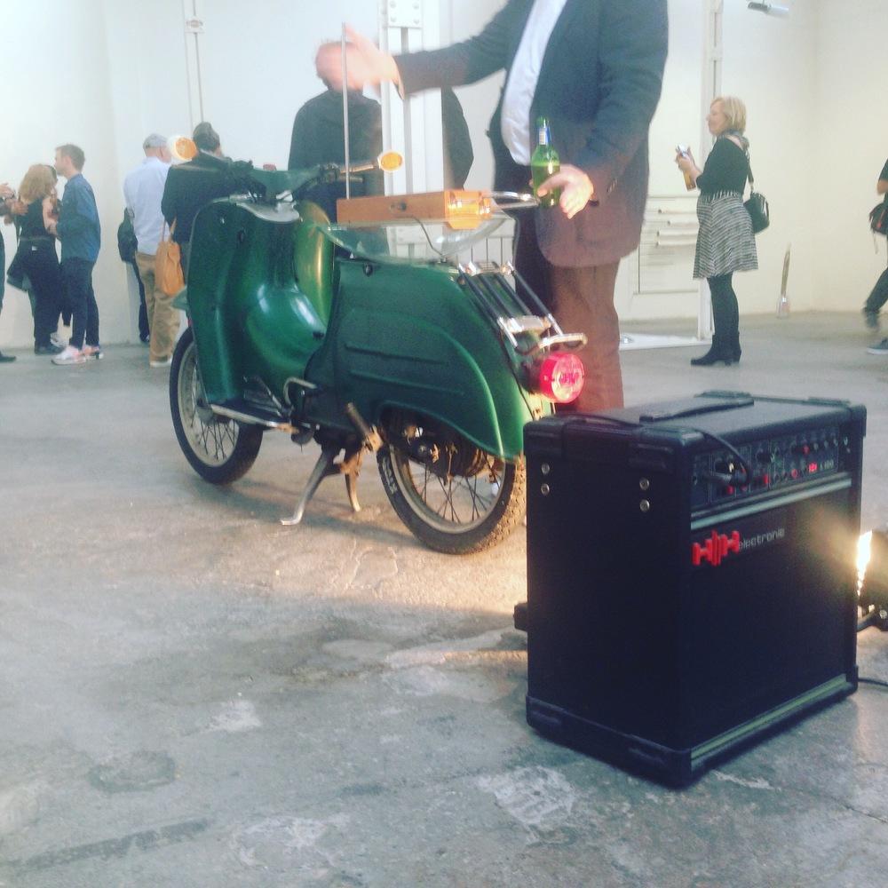 Robert Chambers, Motor Byte, 2016 Vespa scooter, theremin, amplifier