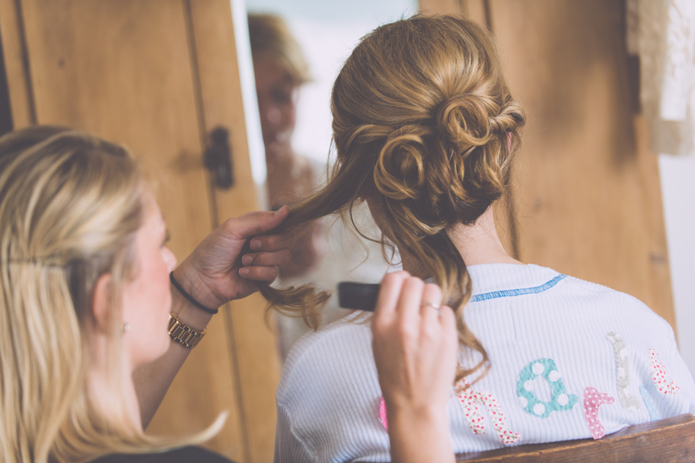 St Agnes Wedding hair up