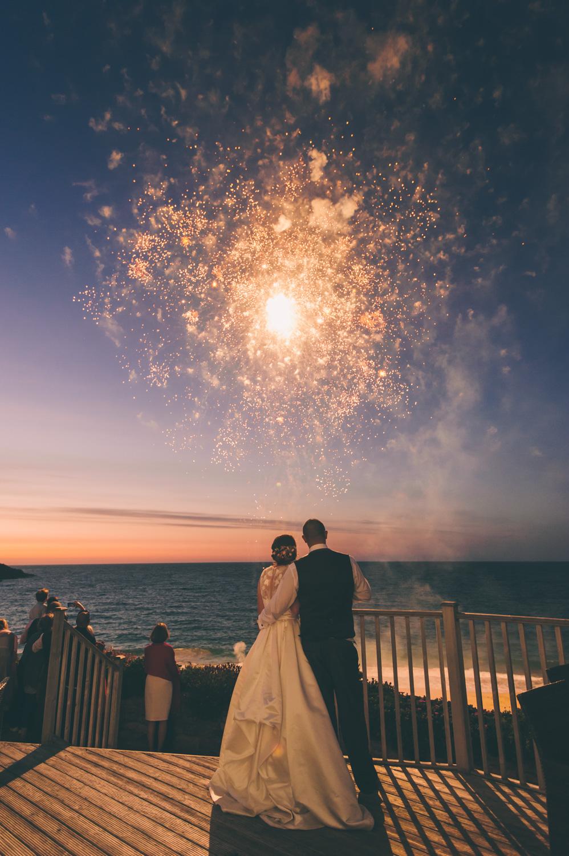 carbis bay hotel wedding fireworks