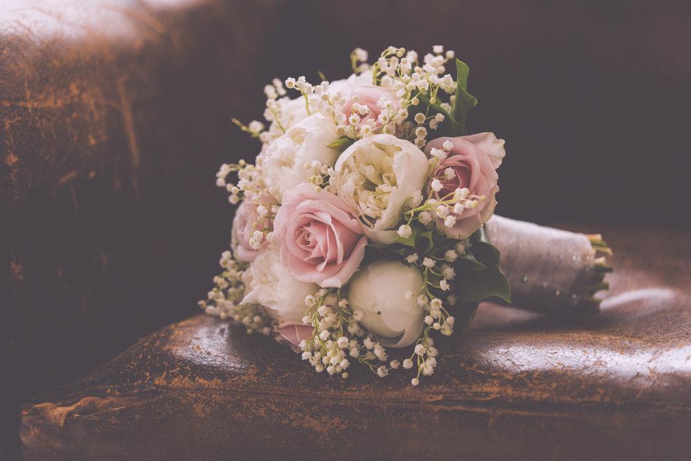 Wedding flowers at Nancarrow Farm.
