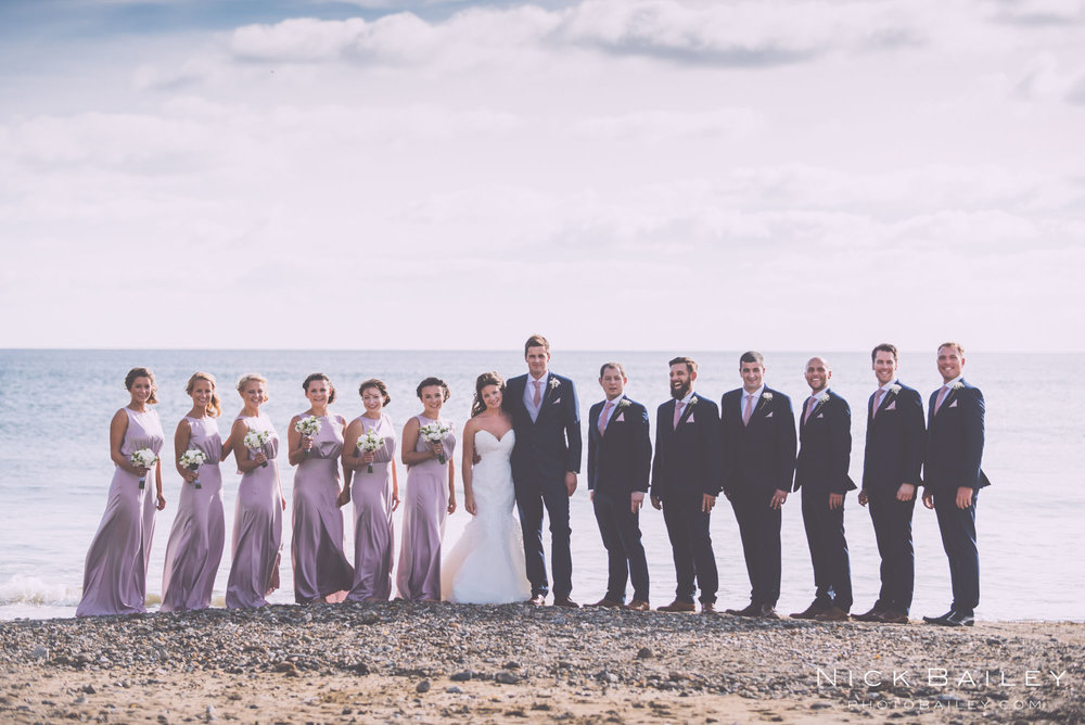 weddings at Caerhays beach