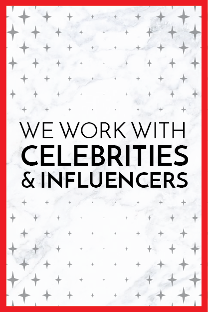 We engage like-minded influencers & celebrities for our clients by seeding products, brand experiences and relevant messaging through these individuals. This also includes press-generating events, digital campaigns, staged paparazzi shots and appearances.