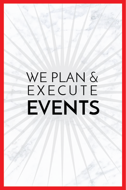 We create and flawlessly execute impactful, fun events that build buzz and garner media attention. From product launches, blogger breakfasts, store openings, cocktail parties, junkets to red carpets…we do it all.