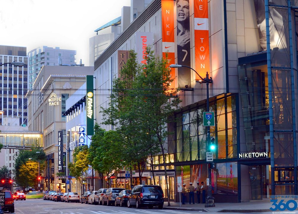 Downtown Seattle Shopping: 9.18 Mile Drive