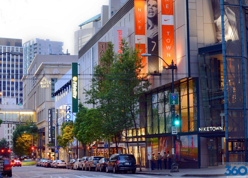 Core Seattle Shopping: 7.18 Mile Drive