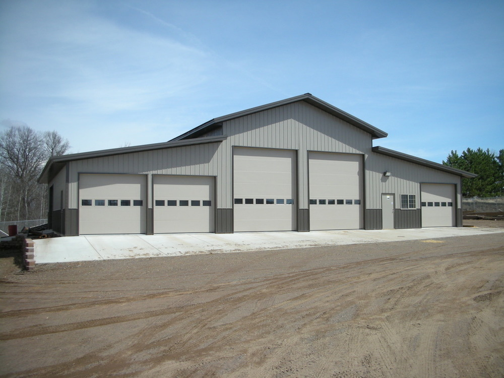 Who we build for aj buildings llc for Pole garage pictures