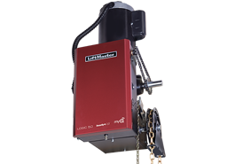 Gearhead (GH) style commercial door operators employ lubricated gears for heavy industrial, high cycle applications. GH-style operators include a floor level chain hoist to ease manual operation in an emergency or power outage.