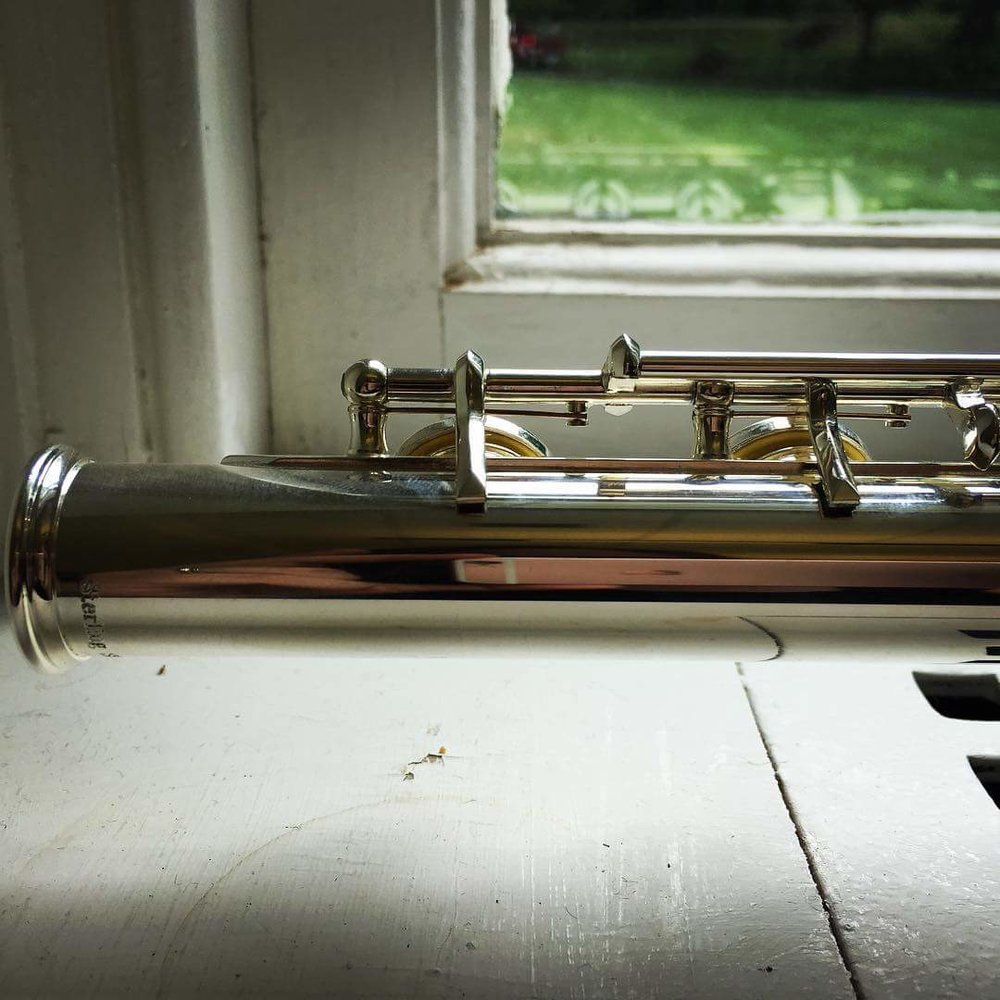 Flute on window sill