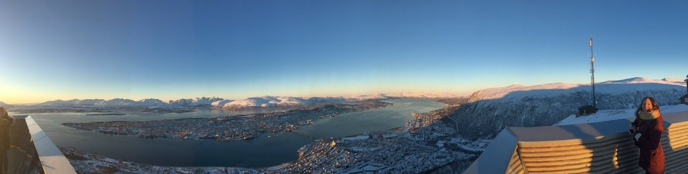 Tromsø var nok den vakreste plassen i verden i noen dager altså, og vi fikk nyte det.