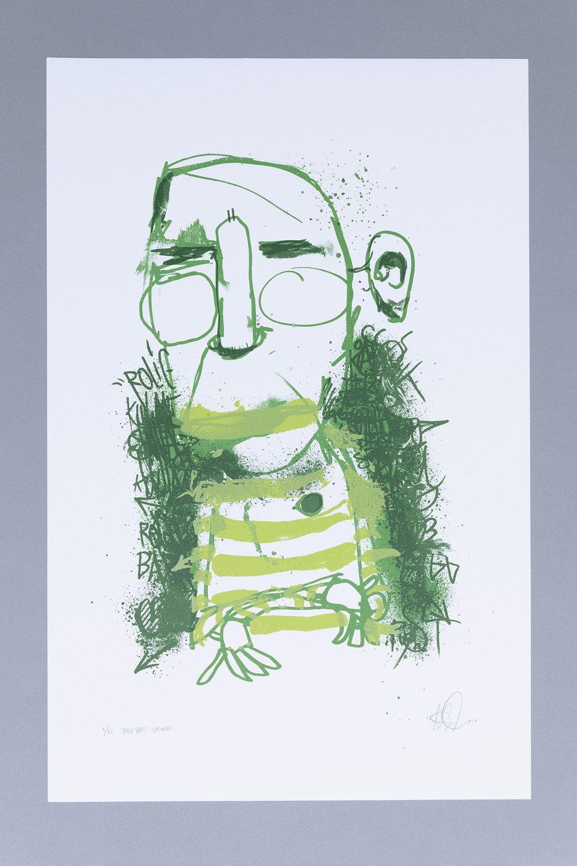 """Rolig bare"", 3 farget silketrykk, ca 53x34 cm, 2017."