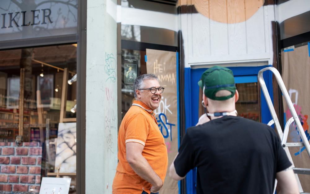 Albert gjør Trondheim til en kulere plass å være. Kult å få sette farge på fasaden hans.