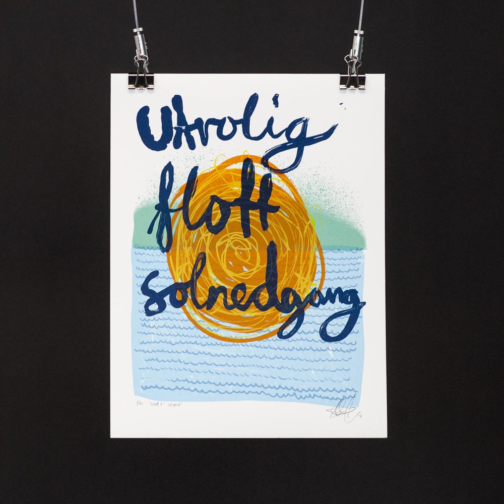 """""""Usett 3"""", 2018, 6 farger silketrykk. foto: Gerhardsen & Karlsen"""