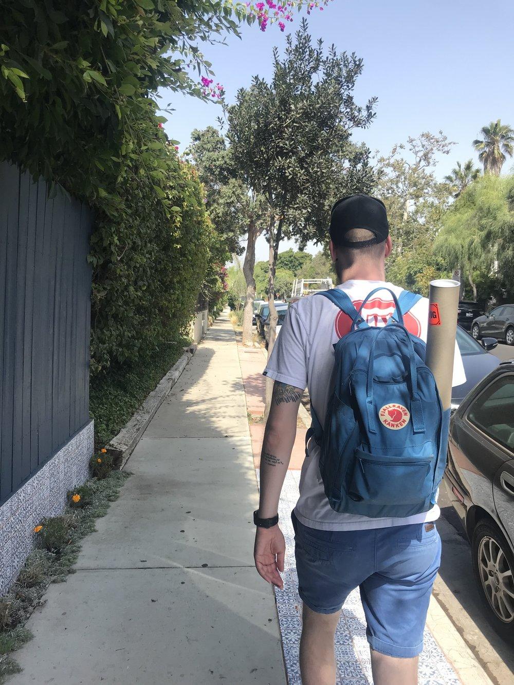 Turistjævel på vei til Stargate studios.