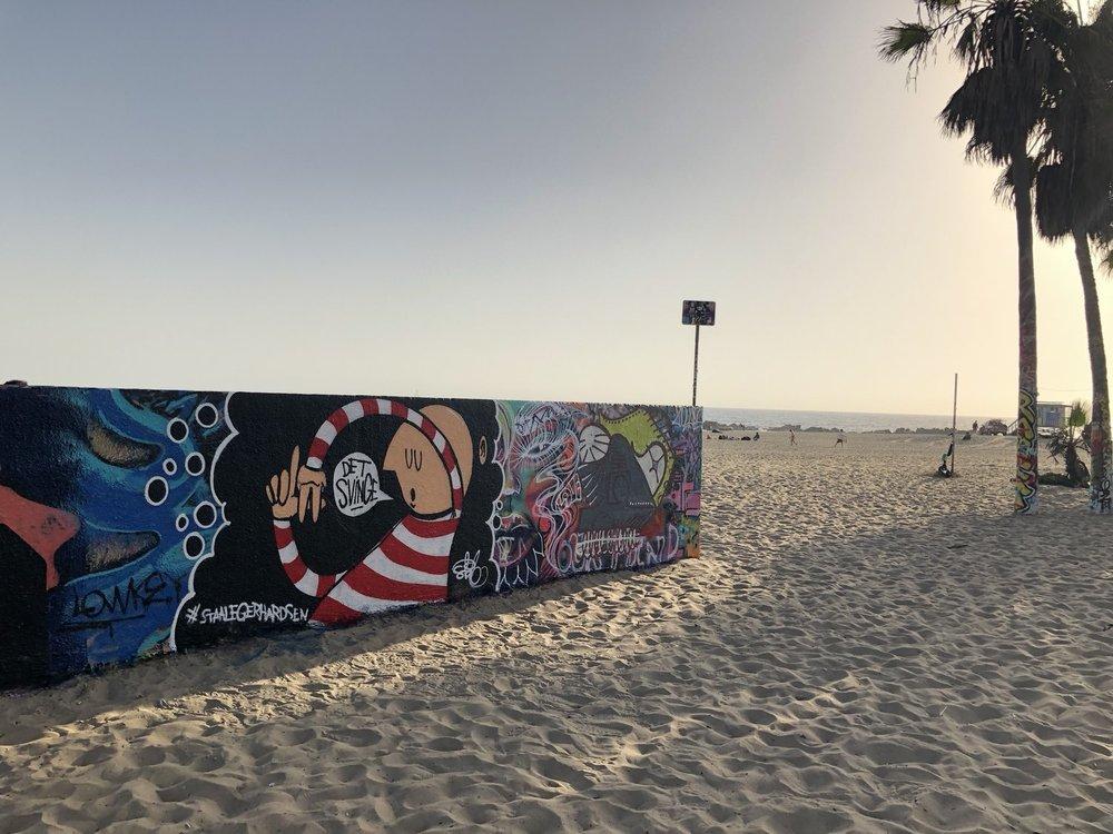 """L.A. det svinge"" på Venice Beach."