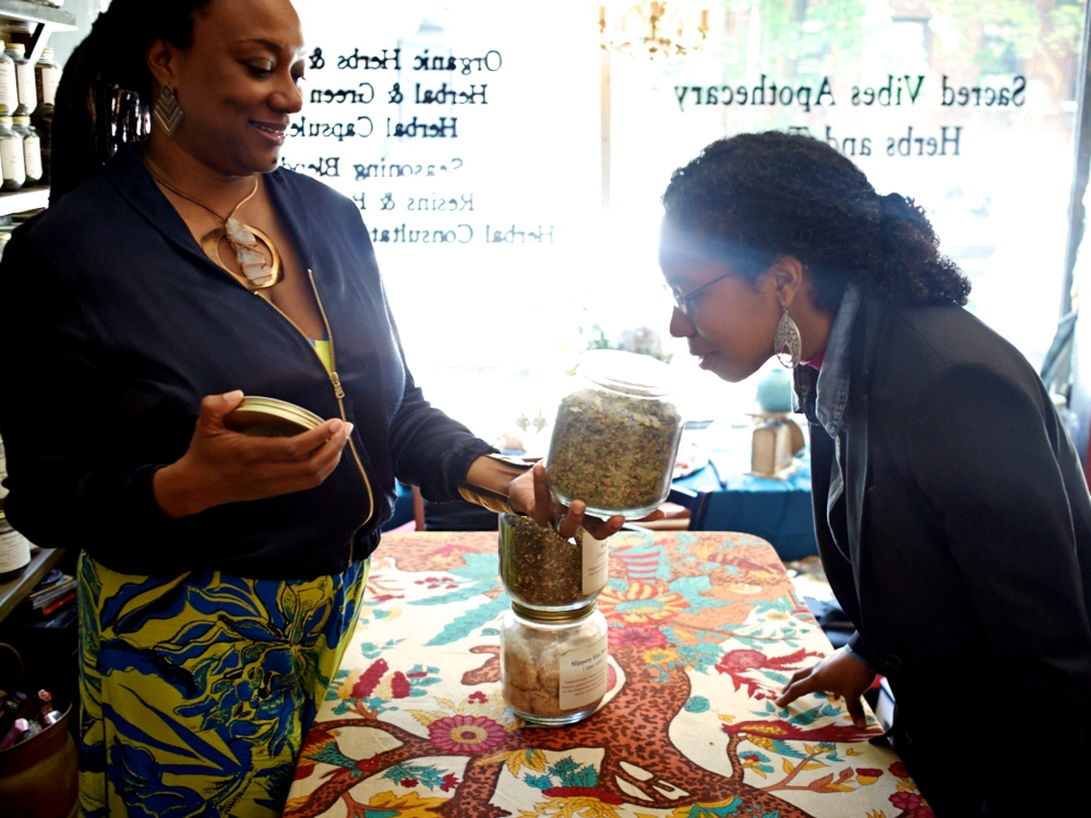 A woman studying Herbalism with Master Herbalist Karen Rose