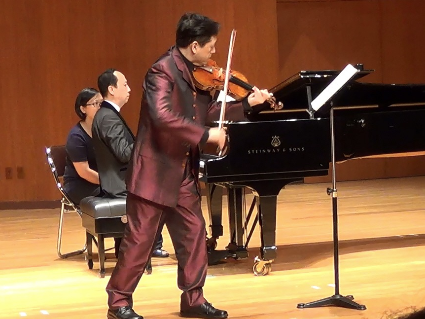 Opening concert: Duo recital with Japanese violinist, Jin Matsuno