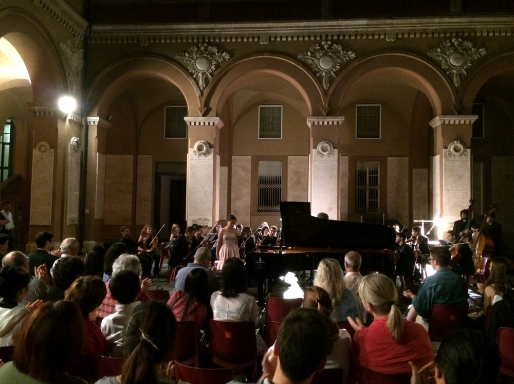 Beethoven Piano Concerto No. 4 performed by Aileen Gozali and the University of Alcante Orchestra at the Cortile della Provincia