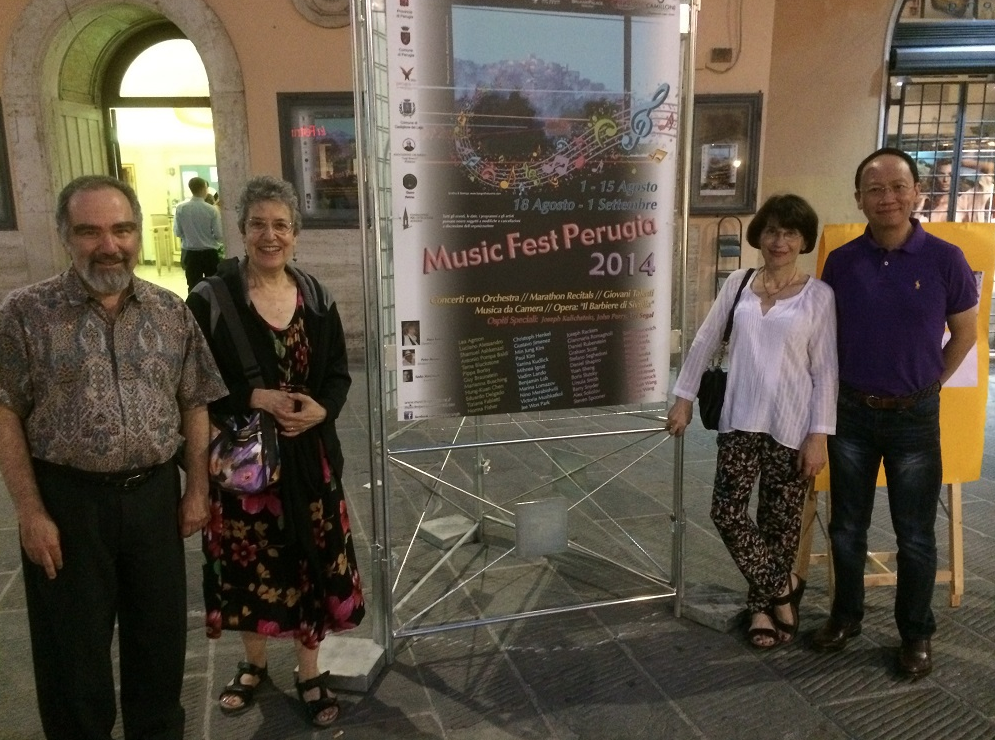 From left to right: Jack Winerock, Susan Winerock, Nino Merabishvili, BL