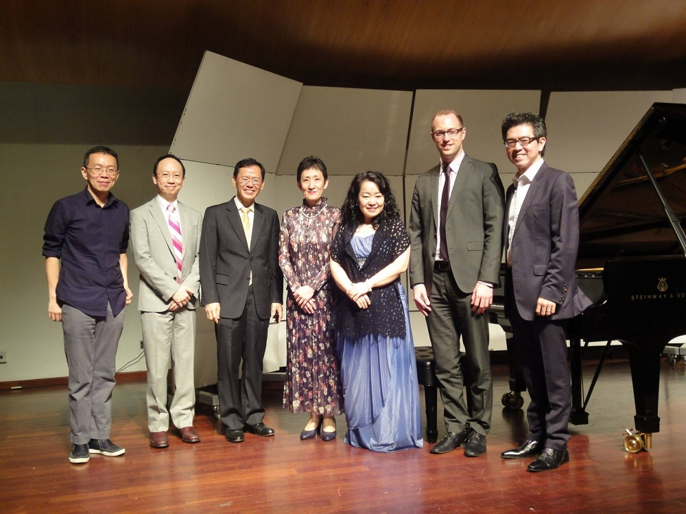 Adjudicators of the UCSI University Final Round - International Piano Festival & Competition. Left to right: Ng Chong Lim, BL, P'ng Tean Hwa, Eri Nakagawa, Kazuha Nakahara, Ryan Lewis & Albert Tiu