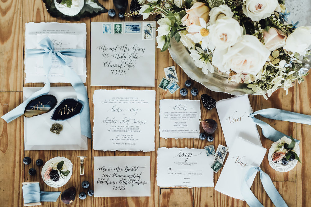 Photo by Rachel Photographs | Stationery by Celeste Paper Co. | Flowers by The Wild Mother | Desserts by The Roundhouse Bakery