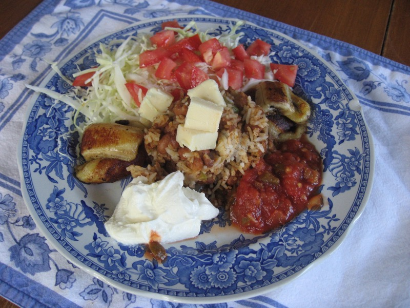 One of Jenny's favorite dishes from Nicaragua, gallo pinto.