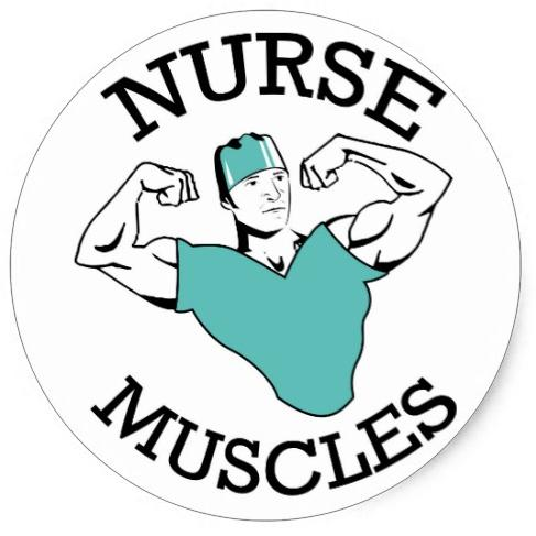 Nurse Muscles Stickers    Sheet of 6 stickers    Stick them anywhere you need to see motivation!   Male Logo  $5.95 - Buy it here!